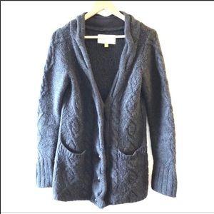 EUC • Leifsdottir • Gray Alpaca Knit Cardigan